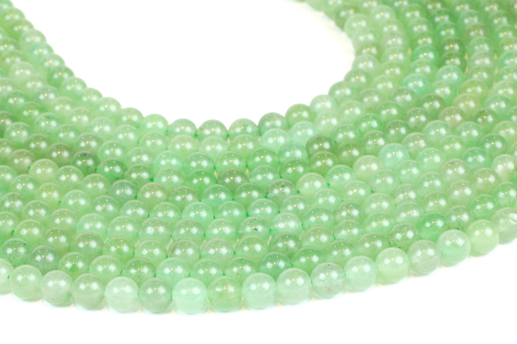 Aventurine Green AA Natural Gemstone Loose Round Stone Beads Bulk Jewelry Making