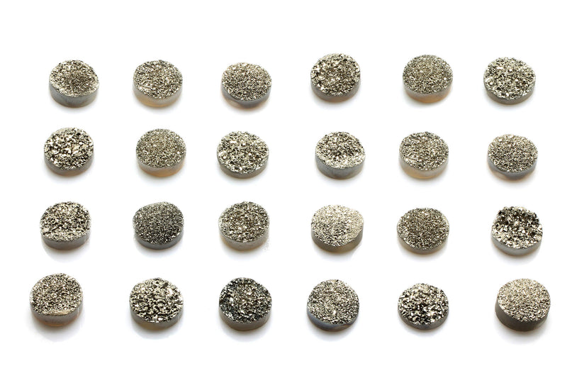 Silver Agate Druzy Natural Gemstone Cabochon Wholesale Stone Jewelry Making Gem