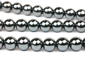 Natural Hematite Gemstone Beads 10mm Smooth Round Loose Gem Craft Bulk Sale DIY