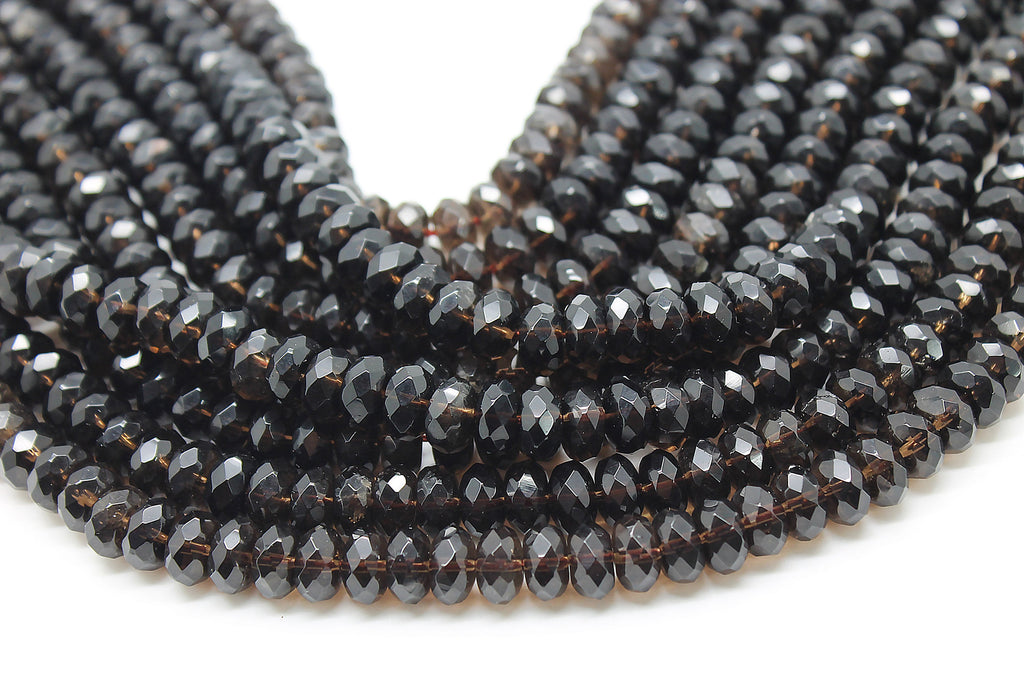 6x10mm Natural Smoky Crystal Quartz Gemstone Loose Beads Wholesale DIY Jewelry
