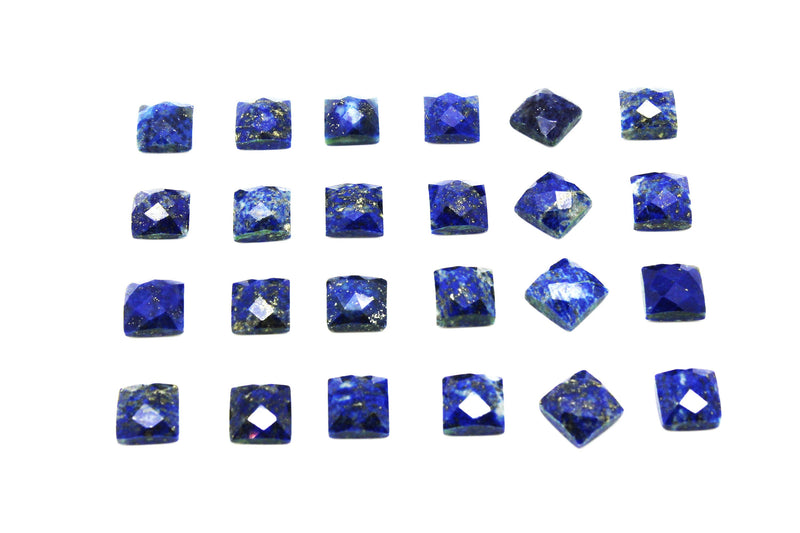 Natural Lapis Lazuli Gemstone Faceted Cabochon Cut AA Loose Square Gem Wholesale