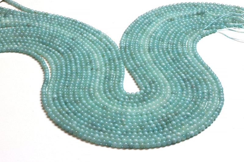 3mm Round Amazonite Beads Natural Loose Smooth Spacer Gemstone Jewelry Supplies