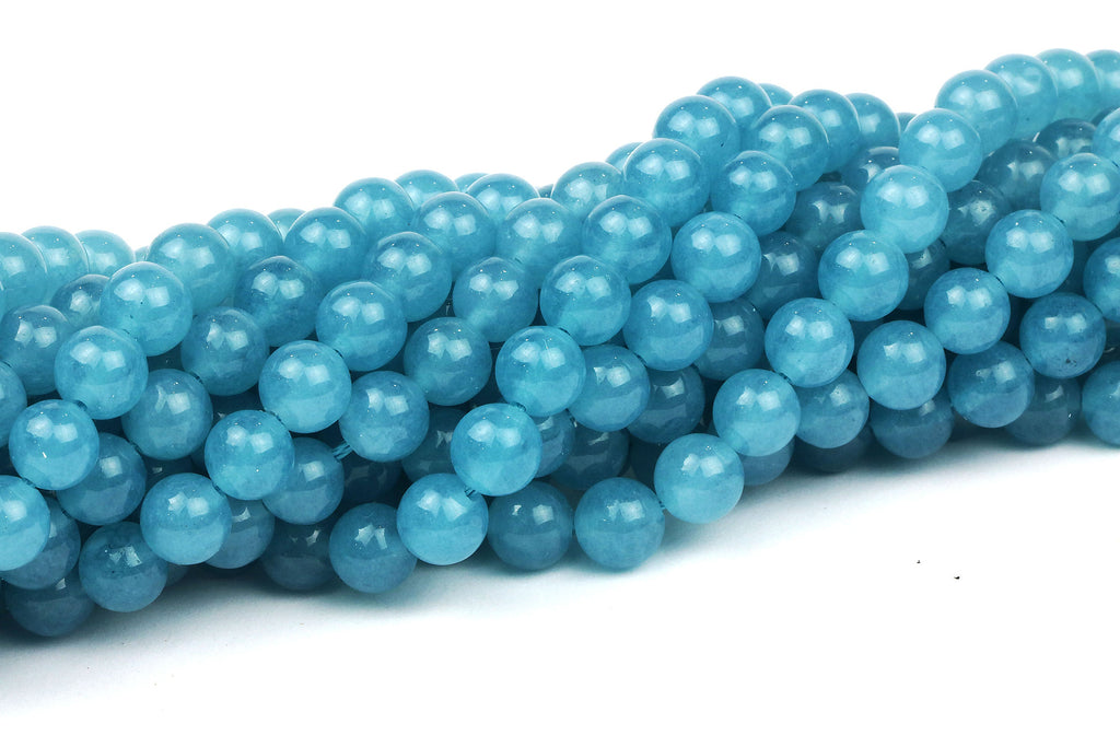 4mm Aqua Quartz Beads Semiprecious Loose Smooth Round AA Gemstone Jewelry Supply