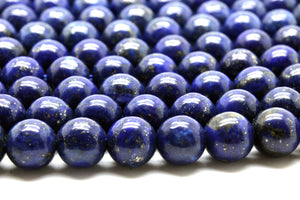 Lapis Lazuli Gemstone Beads Handmade Round Fancy AA Gem Jewelry Making Wholesale