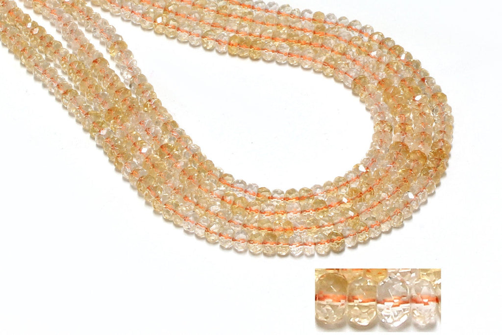 Citrine Beads Rondelle Faceted Natural Loose Gemstone Jewelry Making Wholesale