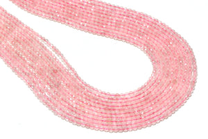 Rose Quartz Beads Natural Gemstone Faceted Round Loose Bulk Sale Jewelry Making