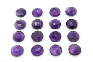 Round AA Amethyst Stone Natural Gemstone Gem Loose Purple Cut Birthstone