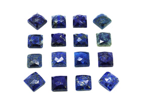Natural Square Lapis Lazuli Loose Faceted Cabochon DIY Jewelry Making Gemstone