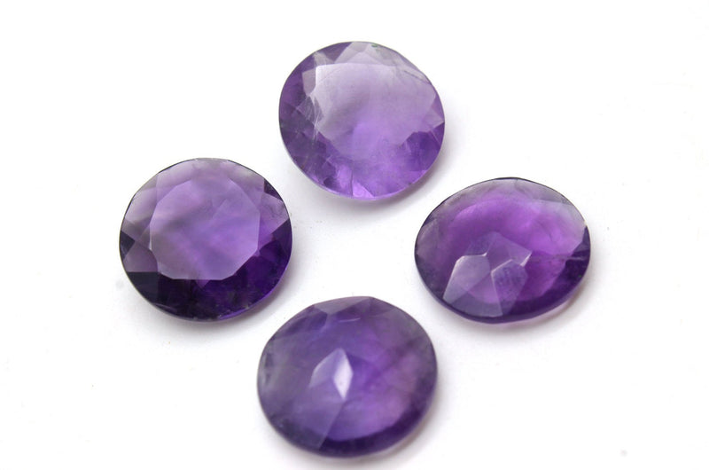 Small Round 10mm Amethyst February Birth Stone Purple Faceted Wholesale Gemstone