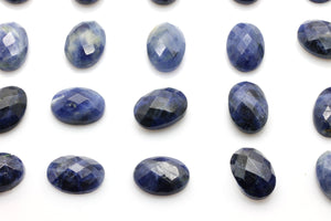 Natural Sodalite Gemstone AA Quality Cabochon Faceted Oval Checker Cut Bulk Sale