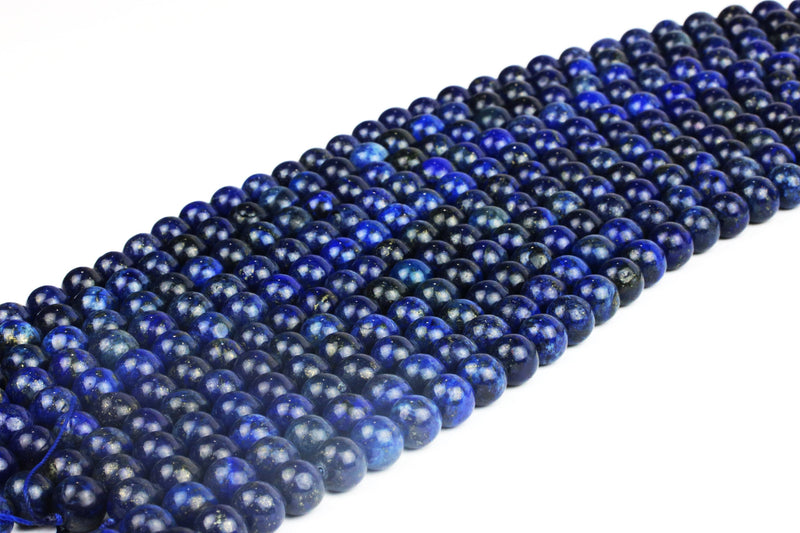 4mm Natural Blue Lapis Lazuli Round Smooth Gemstone Beads DIY Jewelry Wholesale