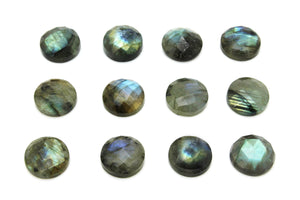16mm Natural Labradorite Loose Faceted Cabochon Gemstone DIY Jewelry Bulk Sale