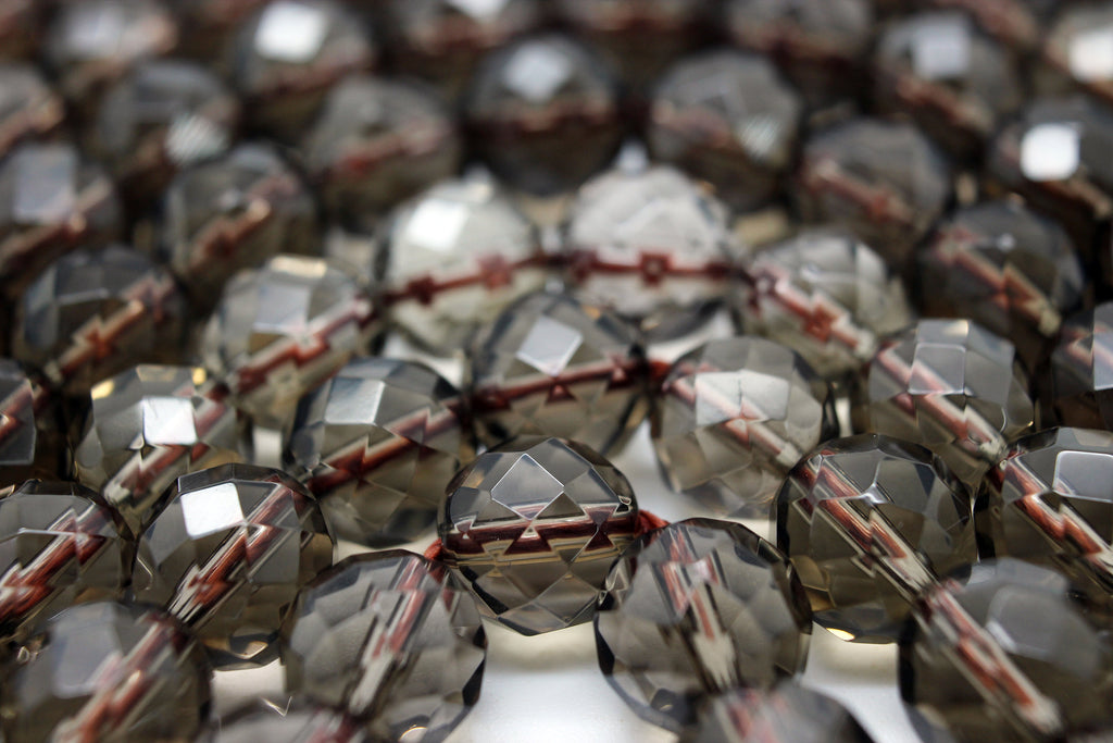 Natural Smoky Quartz Faceted Loose Gemstone Beads 2mm 3mm 4mm 6mm 8mm 10mm 12mm