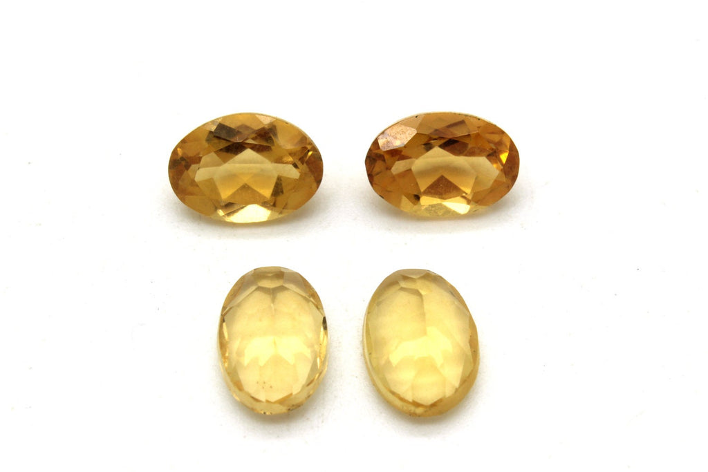 Natural Citrine AA Gemstone Loose Faceted Oval Yellow Transparent Wholesale Gem