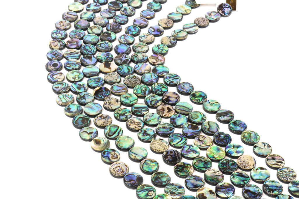 Large Coin Abalone Shell Beads Natural Loose DIY Jewelry Making Bulk Gemstone
