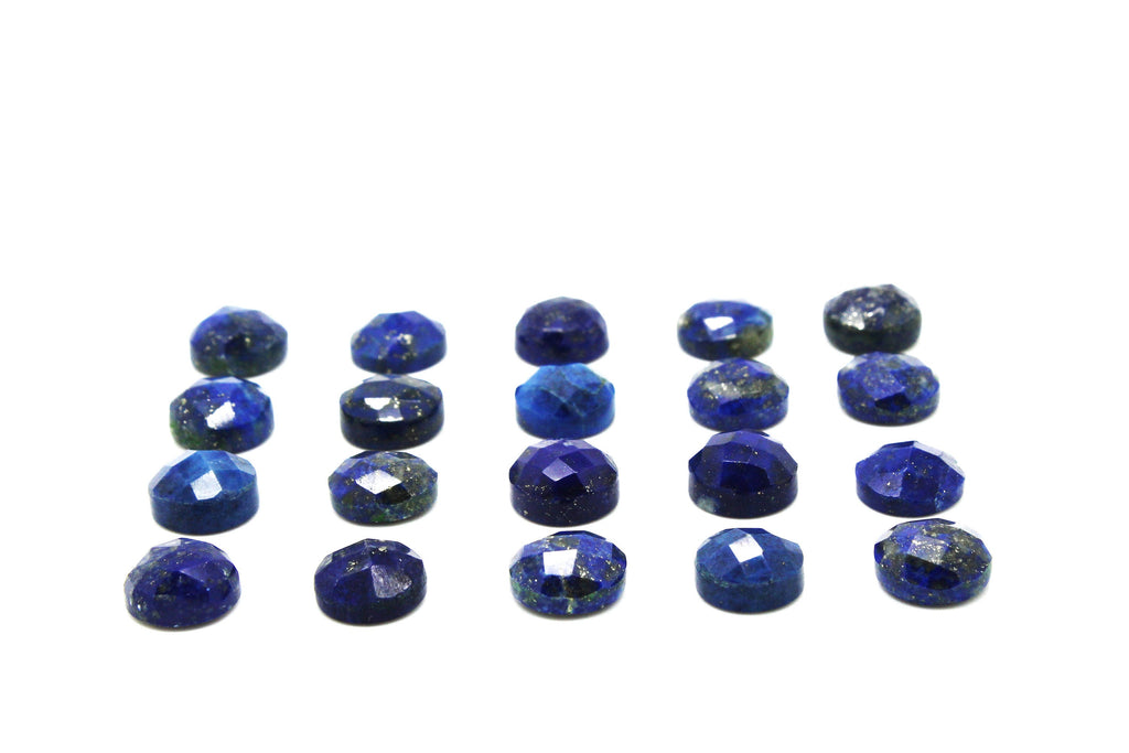 Lapis Lazuli Natural Faceted Cabochon Loose Healing Quartz DIY Jewelry Making