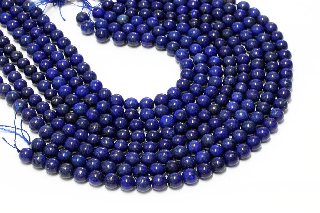 2mm Natural AA Lapis Lazuli Round Smooth Loose Spacer Gemstone Beads DIY Jewelry