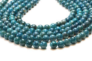 Apatite Round Beads 8mm Smooth Loose Gemstone Wholesale Jewelry Making Supply
