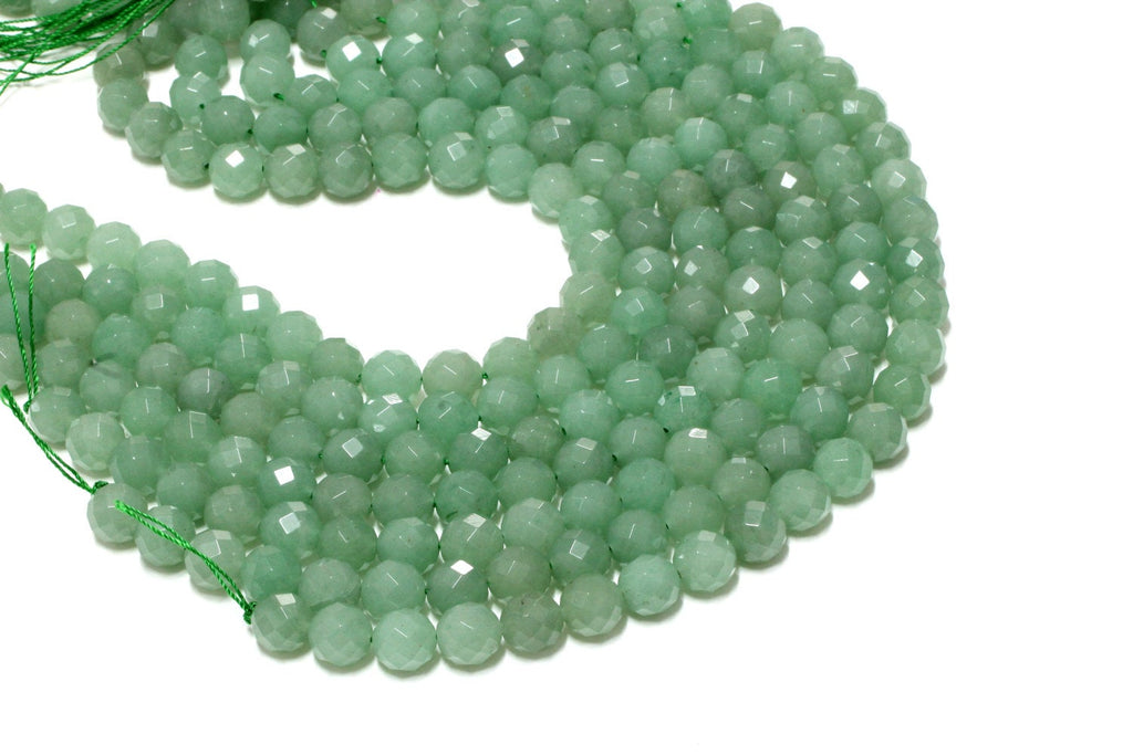Faceted Natural Aventurine Gemstone Round Loose Beads Bulk Sale Jewelry Making