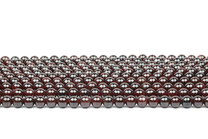 Smooth Garnet Gemstone Beads Natural Round Loose Spacer Jewelry Making Bulk Gem