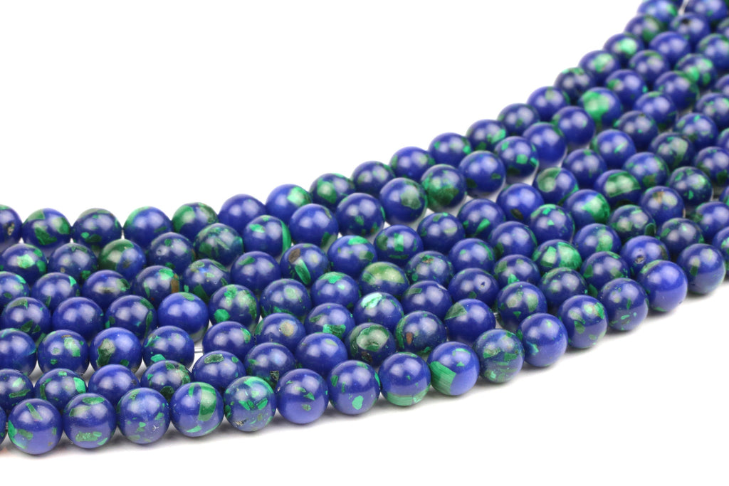 Lapis Malachite Beads Gemstone Natural Round Smooth 10mm Crystal Jewelry Making