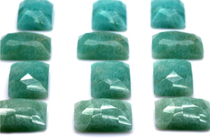 Natural Amazonite 13x18mm Rectangle Loose Faceted Cabochon Gemstone DIY Jewelry