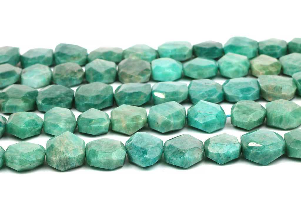 "Natural Russian Amazonite Gemstone Nugget Beads Faceted Wholesale 16"" Strand"