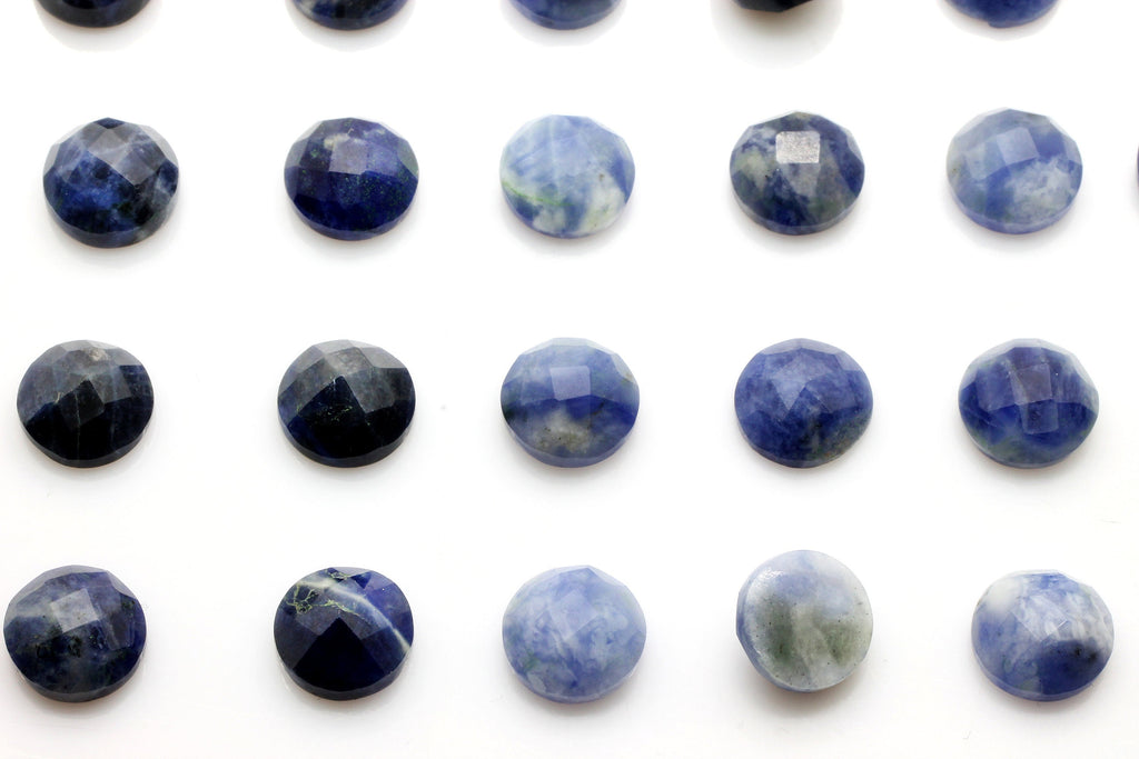 6mm Natural AA Calibrated Sodalite Round Faceted Loose Bulk Gemstone DIY Jewelry