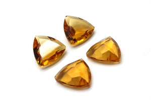 Trillion Citrine Natural Gemstone Faceted Cut Loose Stone Golden Yellow AA Gem