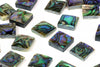 Square Abalone Gemstone 12x12mm Smooth Cabochon DIY Jewelry Supply AA Quality