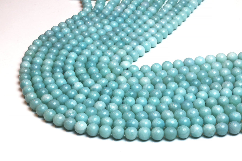 Smooth Amazonite Beads 4mm Round Loose Natural Gemstone Wholesale Jewelry Supply