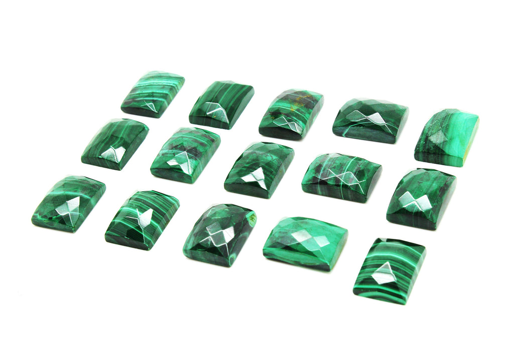 Unique Rectangle Cabochon Natural Malachite Gemstone Green Loose Wholesale Stone