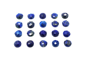 Round Natural Lapis Lazuli Faceted Bulk Cabochon Blue Stone Wholesale Gemstone