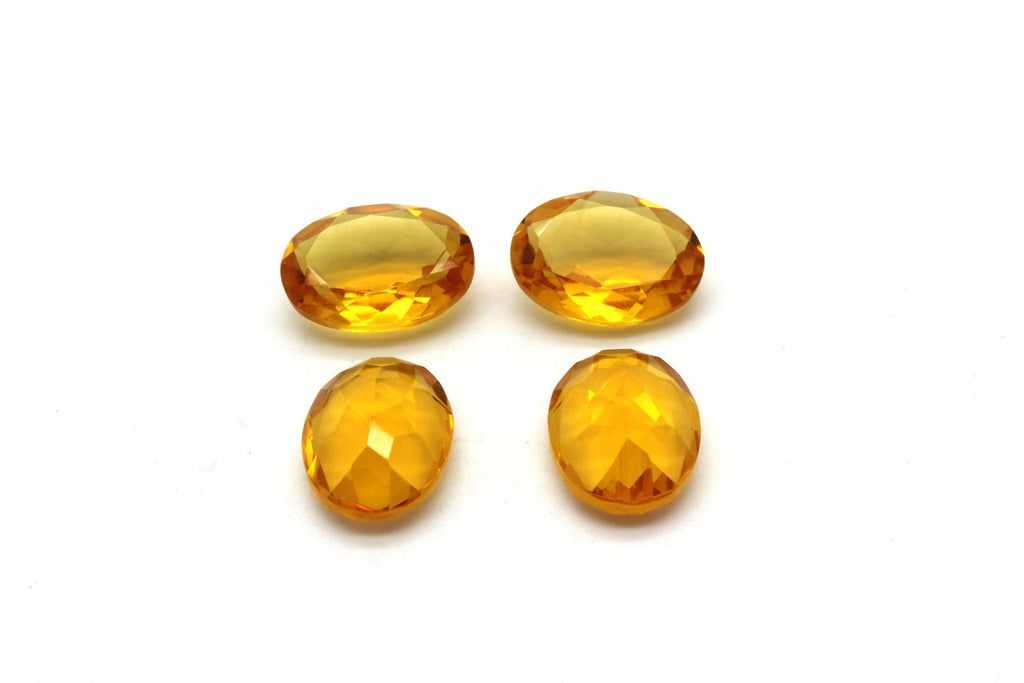 AA Natural Citrine Oval Cut Loose Gemstone Faceted Wholesale Sparkling Golden