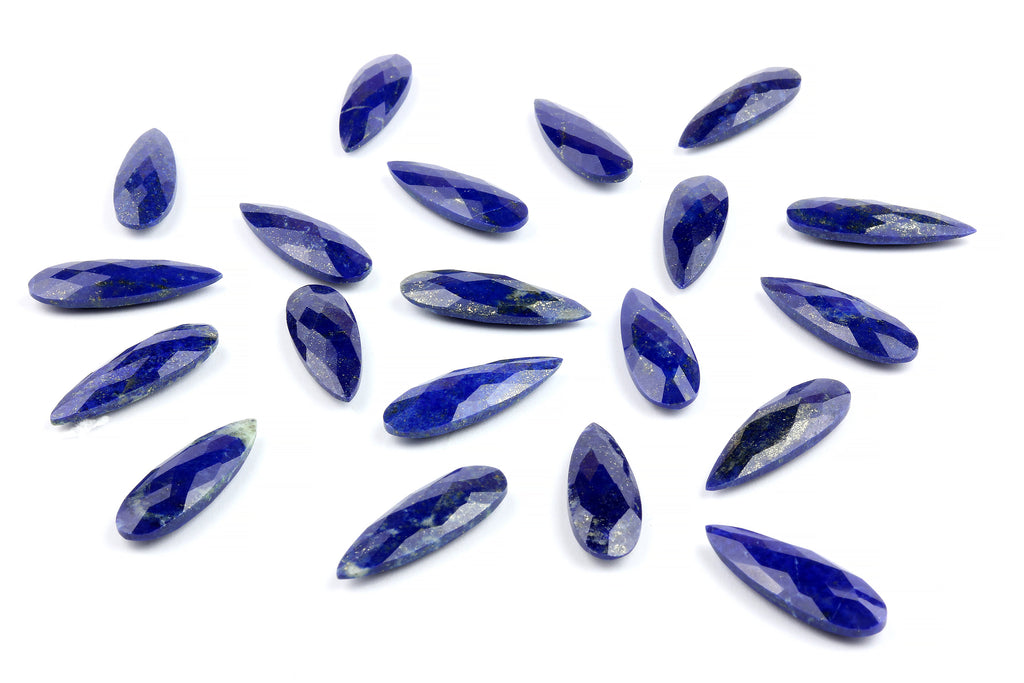 Lapis Lazuli Briolette Gemstone Faceted Teardrop Loose Gem September Birthstone