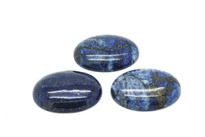 Natural Lapis Lazuli Smooth Oval Cabochon Loose Gemstone Jewelry Making Crafts