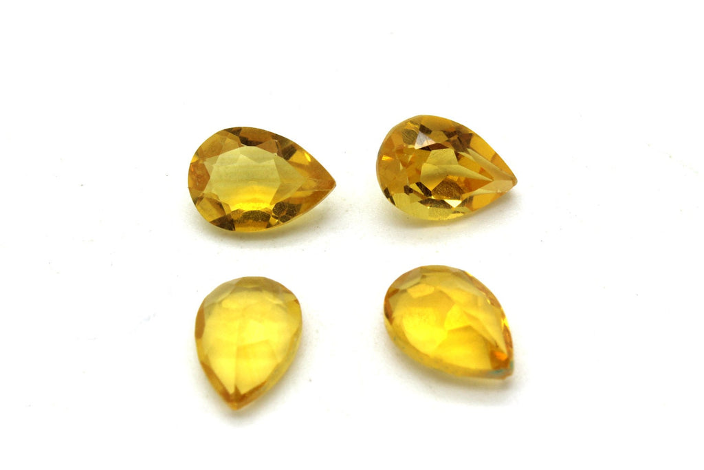 Citrine Tear Drop Pear Yellow Natural Earth Minded Stone Faceted Loose Gemstone