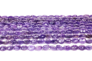 "Amethyst 8mm Coin Beads Jewelry Making Stone Natural Loose 16"" Strand Gemstone"
