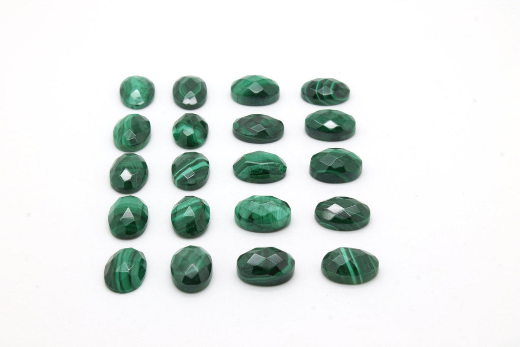 Malachite Cabochon Natural Gemstone Oval Green Round Gem Loose Wholesale Stone
