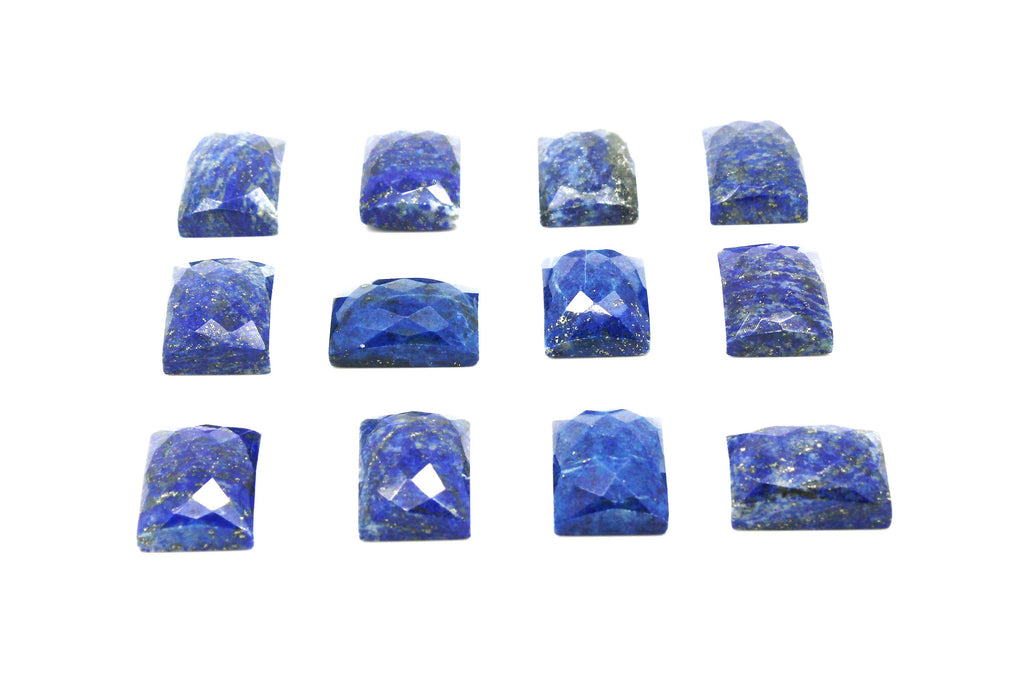 High Grade Lapis Lazuli Cabochon Natural Loose Rectangle Gemstone DIY Craft Gem
