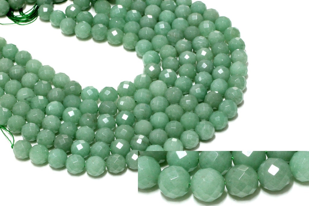 Natural Green Aventurine Semiprecious Loose Beads Faceted Bulk Jewelry Making