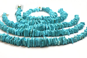 Turquoise Irregular Sliced Beads Loose Smooth Gemstone DIY Jewelry Craft Supply