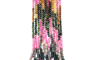 Mixed Natural Tourmaline Loose Spacer Gemstone Beads Jewelry Making Wholesale