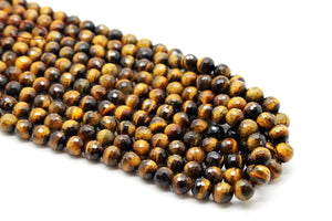 Natural 6mm Tiger Eye Beads Semiprecious Loose Spacer Gemstone Jewelry Supply
