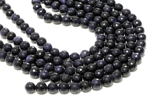 Faceted 8mm Goldstone Beads Loose Round Gemstone Wholesale Craft Jewelry Supply