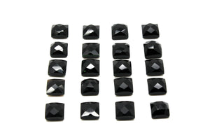 Black Onyx Square Cabochon Gemstone Loose Natural 4x4mm Wholesale Jewelry Making