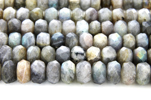 6x10mm Rondelle Natural Labradorite Faceted Gemstone Loose Beads Jewelry Making