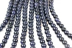 10mm Round Smooth Loose Goldstone Blue Beads DIY Supply Jewelry Making Wholesale