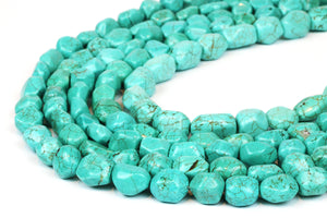 Green Natural Turquoise Magnesite Loose Gemstone DIY Nugget Beads Jewelry Making