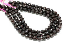 Natural Garnet Gemstone Beads Cherry Red Wholesale 14mm Loose Faceted Round Gem